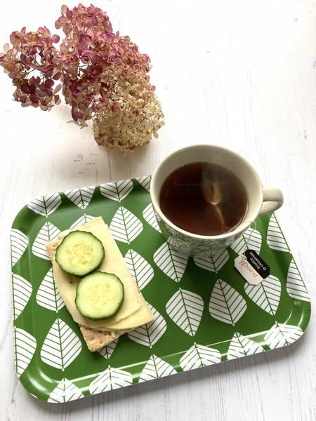 Spisebrett LØV - grønn